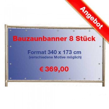 Construction Fence Banner 8 Pieces Poly Production
