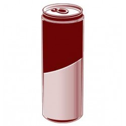Red-Bird Energy-Drink, Dose bedruckt