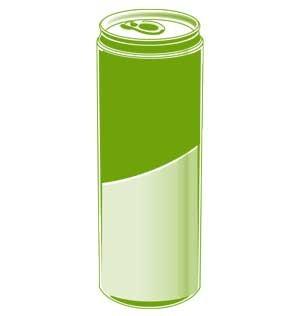 Green Apple Apfel-Drink, Dose bedruckt