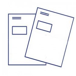 Briefumschlag DIN lang, mit Fenster, 4/4 farbig