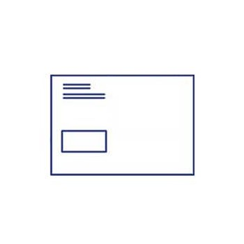 Briefumschlag DIN C5 mit Fenster, haftklebend, 4/0 farbig
